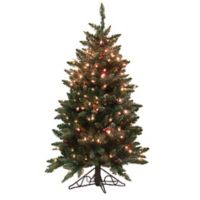 Vickerman 4.5-Foot Frosted Edina Pre-Lit Artificial Christmas Tree with Clear Lights
