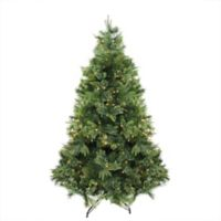 Northlight 6.5-Foot Pre-Lit Traditional Christmas Tree in Green with Warm Lights