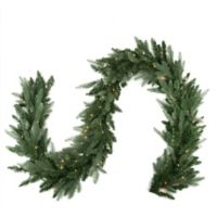 Northlight 9-Foot x 12-Inch Pre-Lit Washington Garland in Green