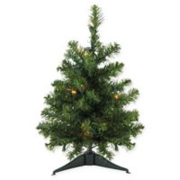 18-Inch Pre-Lit Artificial Christmas Tree with White LED Lights