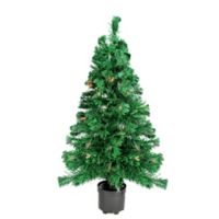 2-Foot Fiber Optic Christmas Tree with Multi-Color Lights