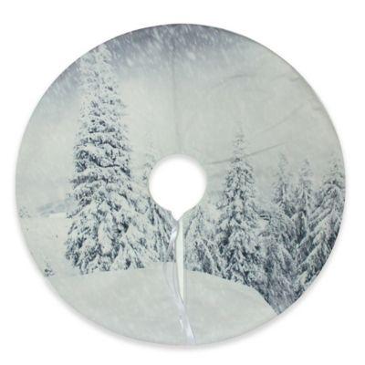 wonderland tree mini christmas tree skirt - White Mini Christmas Tree