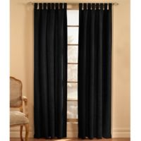 Microsuede 120-Inch Rod Pocket Window Curtain Panel in Black
