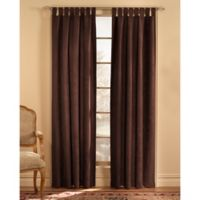 Microsuede 120-Inch Rod Pocket Window Curtain Panel in Chocolate