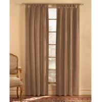 Microsuede 120-Inch Rod Pocket Window Curtain Panel in Ginger