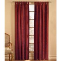 Microsuede 95-Inch Rod Pocket Window Curtain Panel in Cinnabar