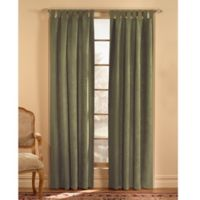 Microsuede 120-Inch Rod Pocket Window Curtain Panel in Green