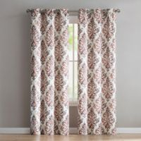 VCNY Home Alton 84-Inch Grommet Top Window Curtain Panel Pair in Red