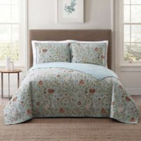 Style 212 Bedford King Quilt Set in Blue