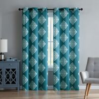 VCNY Aria 96-Inch Window Curtain Panel Pair in Teal