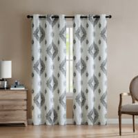 VCNY Home Nola 84-Inch Grommet Top Window Curtain Panel Pair in Neutral