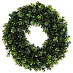 Pure Garden Boxwood 14-Inch Round Wreath