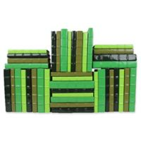 Leather Books Candy Patent Leather Re-Bound Decorative Books in Green (Set of 40)