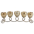 Mikasa® Champagne Mosaic and Metal Candleholder Centerpiece