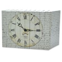 Leather Books English Novels Paris Clock on Vintage Script Re-bound Decorative Books (Set of 10)