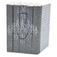 Leather Books English Novels Chandelier on Vintage Script Re-bound Decorative Books (Set of 5)