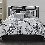 Laundry by SHELLI SEGAL® Palma Queen Comforter Set in Black/White