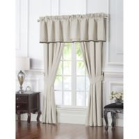 Waterford® Vienna Pole Top Window Curtain Panel Pair in Ivory
