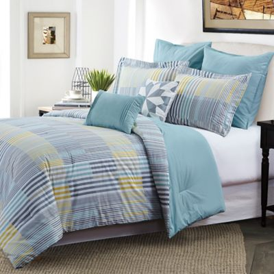 cameron king comforter set in greygreen