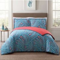 Style 212 Jaclyn Geo King Comforter Set in Teal