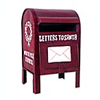 """Letters To Santa"" Metal Mailbox Décor in Red"