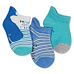 ED Ellen DeGeneres Size 3-12M 3-Pack Blue Whale Of Time Low Cut Socks