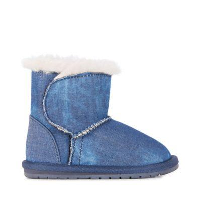 6c9f1d45f77 EMU Australia Size 12-18M Wool Denim Bootie in Indigo