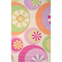 "KAS Kidding Around Pastel Peppermints 5'x 7'6"" Area Rug"