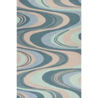 KAS Milan Waves 5-Foot x 7-Foot 6-Inch Area Rug in Beige/Seafoam