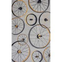 KAS Sonesta Wheels in Motion Hand-Tufted 1'8 x 2'6 Accent Rug in Grey