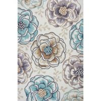 KAS Sonesta Floral Vines Hand-Tufted 7'6 x 9'6 Area Rug in Ivory/Beige