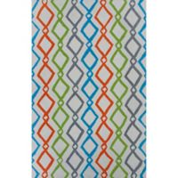KAS Shelby Groove 5'x 7' Area Rug in Ivory