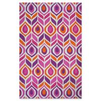 KAS Shelby Pizzazz 5' x 7' Area Rug in Pink