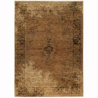 Oriential Weavers Andorra Distressed 5-Foot 3-Inch x 7-Foot 3-Inch Area Rug in Gold