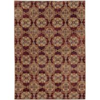 Oriental Weavers Andorra Floral Medallion 5-Foot 3-Inch x 7-Foot 3-Inch Area Rug in Red