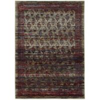 Oriental Weavers Andorra Border Striations 6-Foot 7-Inch x 9-Foot 6-Inch Multicolor Area Rug