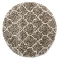 Nourison Amore Amor2 3-Foot 11-Inch Round Accent Rug in Stone