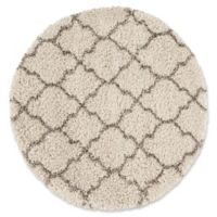 Nourison Amore Amor2 3-Foot 11-Inch Round Accent Rug in Cream
