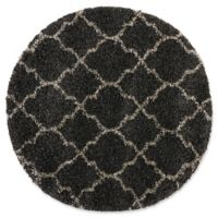 Nourison Amore Amor2 3-Foot 11-Inch Round Accent Rug in Charcoal