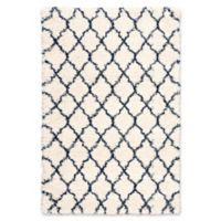 Nourison Amore Amor2 5-Foot 3-Inch x 7-Foot 5-Inch Area Rug in Ivory/Blue