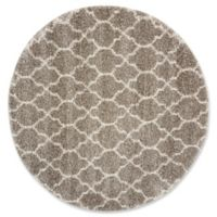 Nourison Amore Amor2 6-Foot 7-Inch Round Area Rug in Stone