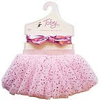 Toby™ Newborn 2-Piece Metallic Shine Tutu and Headband Set in Pink