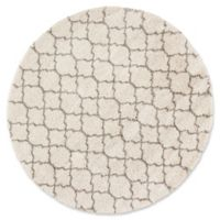 Nourison Amore Amor2 7-Foot 10-Inch Round Area Rug in Cream