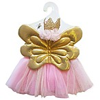 Toby 3-Piece Size 0-12M Sweet Butterfly Tutu, Wings and Headband Set in Pink