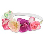 Capelli New York Floral Garland Headband in Pink