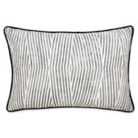 Laundry by SHELLI SEGAL® Palma Bamboo Stripe Throw Pillow in Black/White