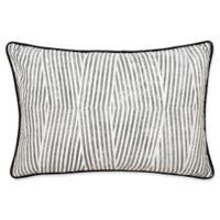 Laundry by SHELLI SEGAL® Palma Bamboo Stripe Throw Pillow in Black/White