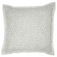 Laundry by SHELLI SEGAL® Santa Monica European Pillow Sham in White/Grey
