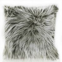 Laundry by SHELLI SEGAL® Santa Monica Faux Fur Square Throw Pillow in White/Black