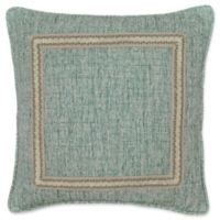 Rose Tree Odessa Embroidered Square Throw Pillow in Teal